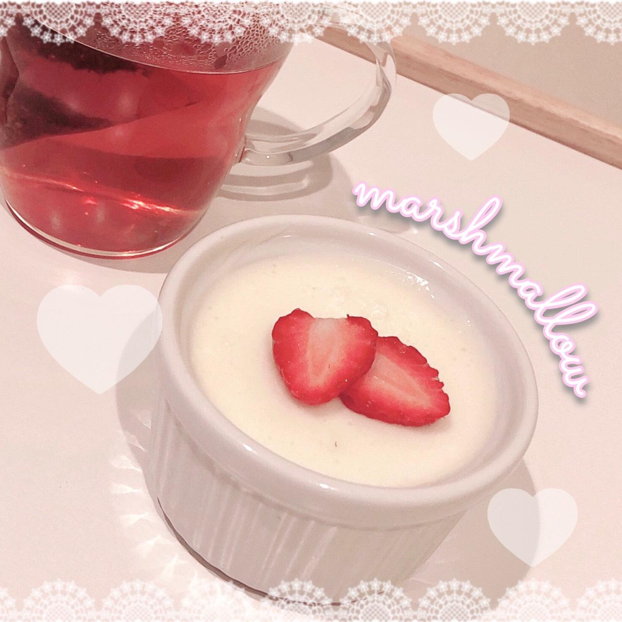 マシュマロで簡単♡レアチーズケーキ