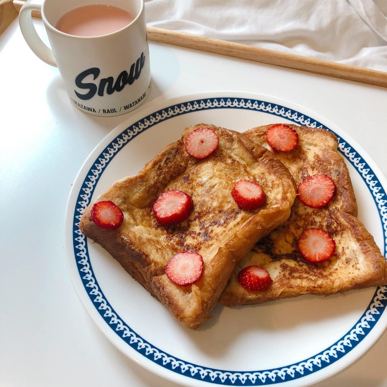 朝ごはんを楽しみに♡アレンジフレンチトースト