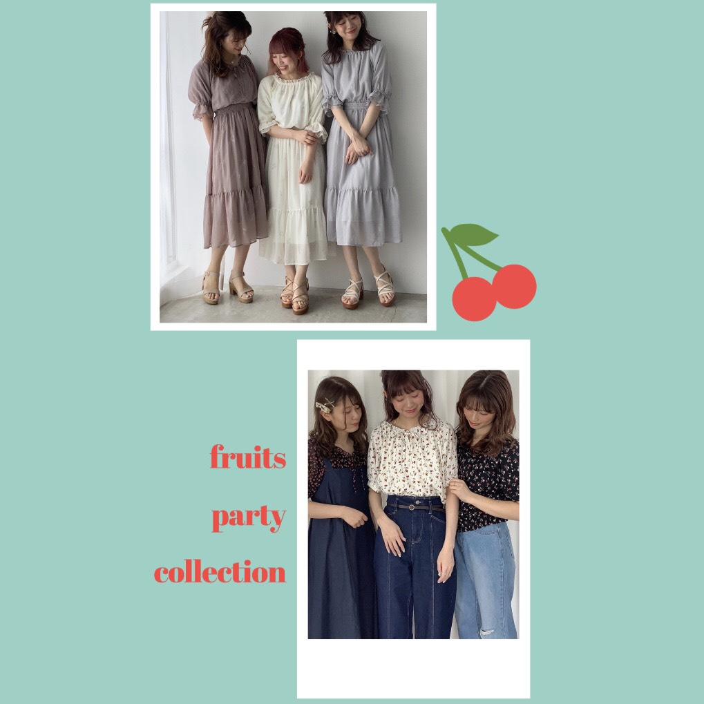 CUTEなモチーフで夏気分♪~Fruits Party Collection~