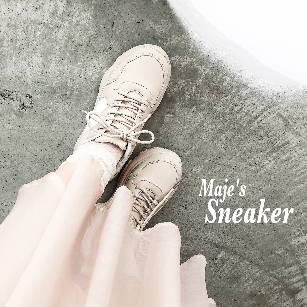 ガーリーフェミニンなコーデにもぴったり♡majeの新作スニーカーのご紹介👟